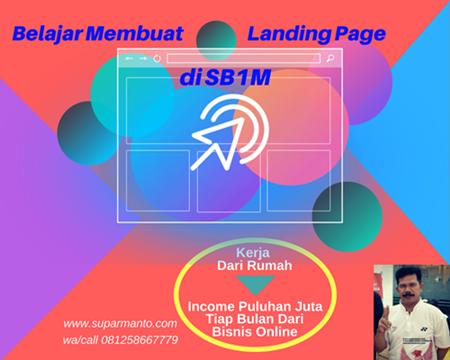 Buat Landing Page di SB1M
