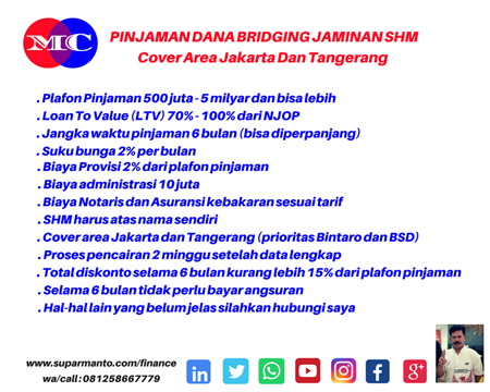 Pinjaman Dana Bridging Jaminan SHM di BSD
