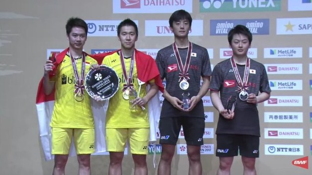 GANDA PUTRA INDONESIA JUARA DAIHATSU YONEX JAPAN OPEN SUPER SERIES 2017