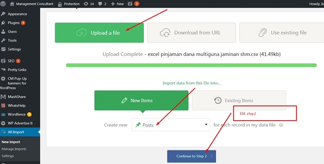 posting ribuan artikel dengan plugin wp all import