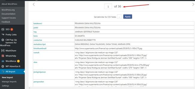 posting ribuan artikel dengan plugin wp all import,