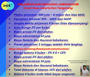 Pinjaman Dana Bridging Tenor 6 Bulan
