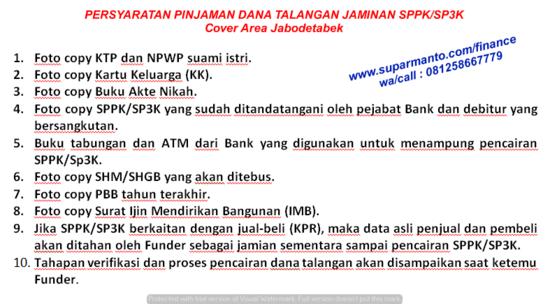 Pinjaman Dana Talangan