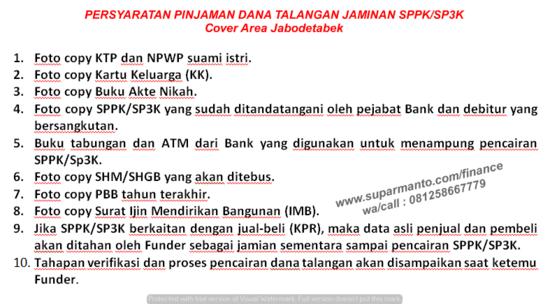 Persyaratan Pinjaman Dana Talangan