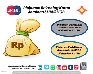 Pinjaman Rekening Koran Area Jabodetabek