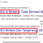 Belajar Optimasi SEO Bintaro